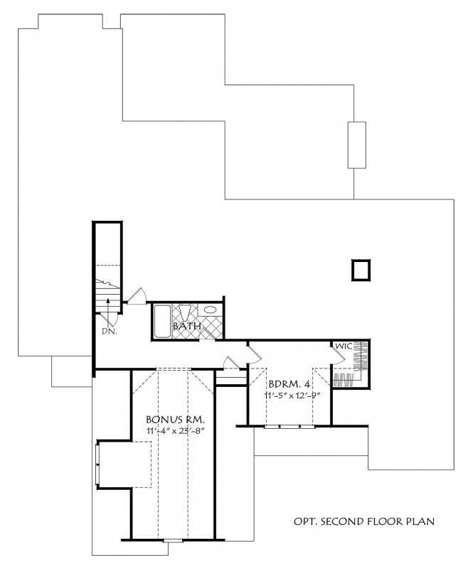 Upper/Second Floor Plan: 85-159
