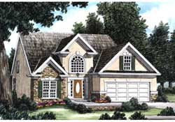 Southern Style Home Design Plan: 85-160