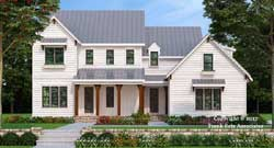 Modern-Farmhouse Style Home Design Plan: 85-162