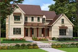 Modern-Farmhouse Style House Plans Plan: 85-163
