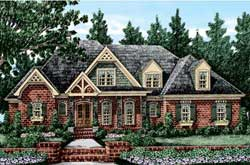 English-Country Style Home Design Plan: 85-168