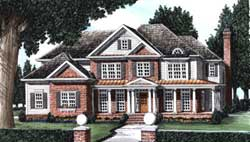 Southern Style Home Design Plan: 85-172