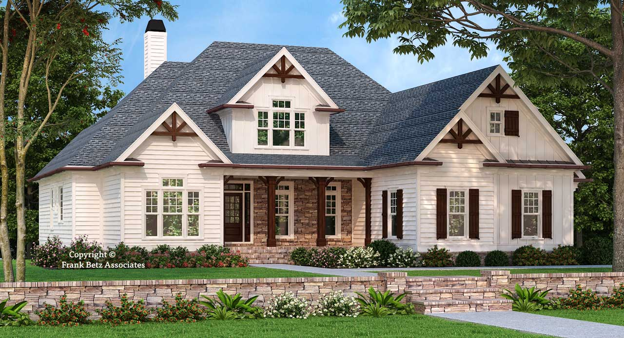 Craftsman Style Home Design Plan: 85-181