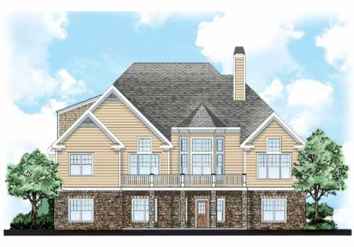 Rear Elevation Plan: 85-181