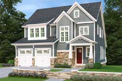 Craftsman Style Home Design Plan: 85-182