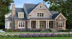 Craftsman Style Home Design Plan: 85-184