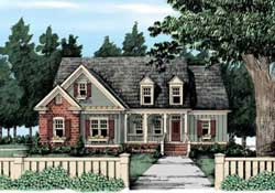 Country Style Home Design Plan: 85-189