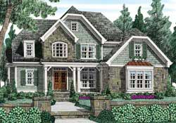 English-Country Style Floor Plans Plan: 85-193