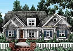 Traditional Style Home Design Plan: 85-199