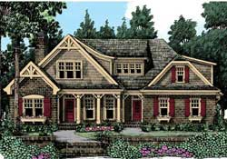 Craftsman Style House Plans Plan: 85-206