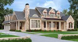English-Country Style Home Design Plan: 85-211