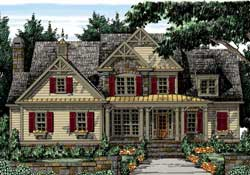 Country Style Home Design Plan: 85-214