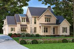 Modern-Farmhouse Style Home Design Plan: 85-217