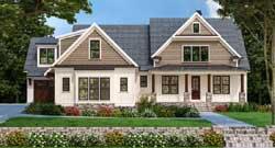 Modern-Farmhouse Style Home Design Plan: 85-218
