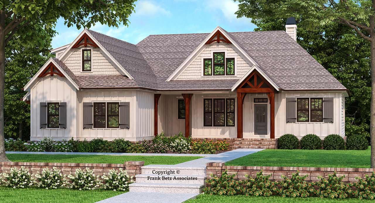 Modern-farmhouse Style Floor Plans Plan: 85-219