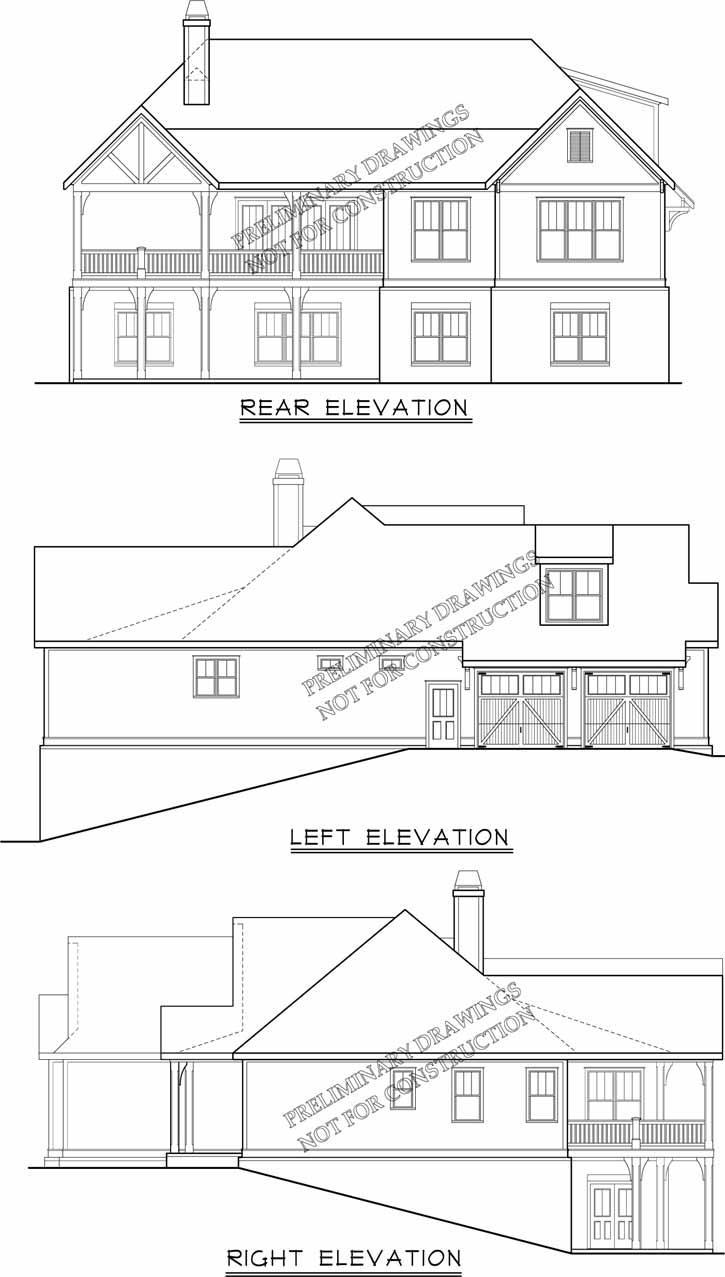 Rear Elevation Plan: 85-219