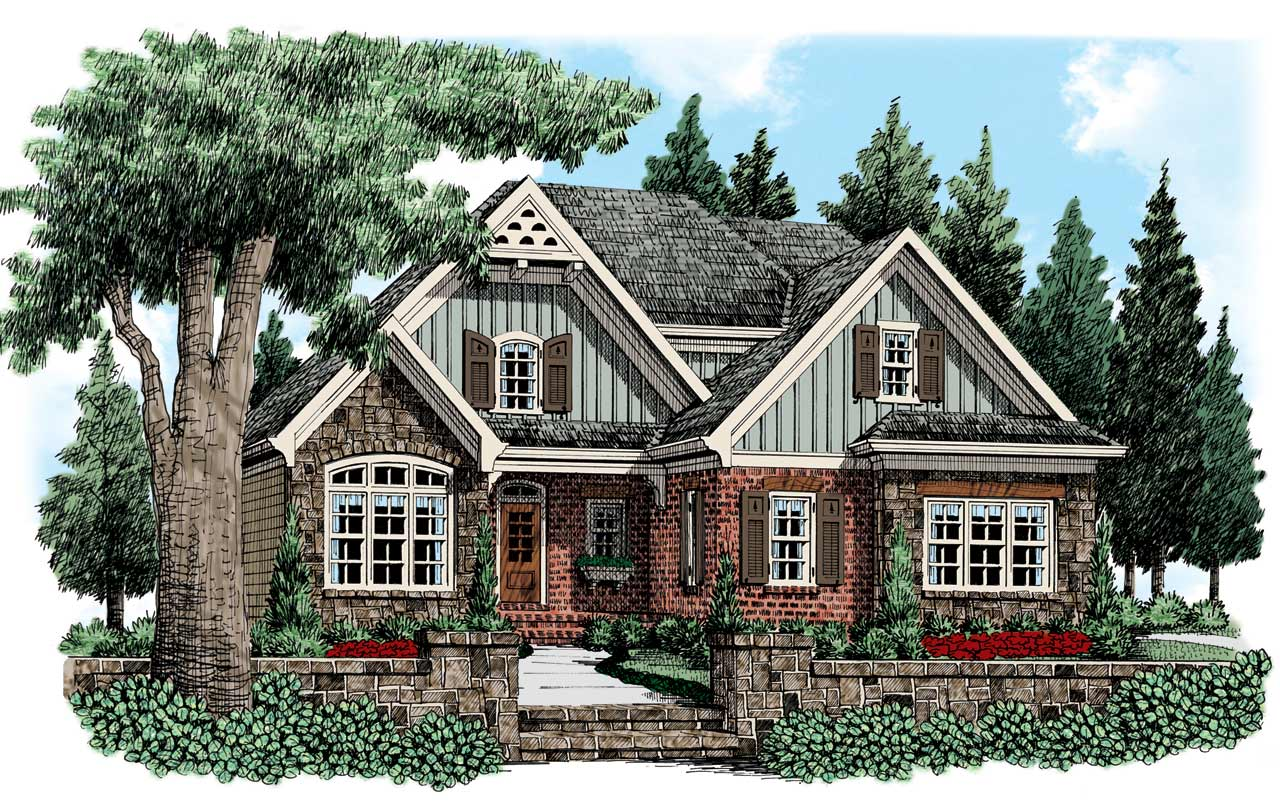 English-country Style House Plans Plan: 85-236