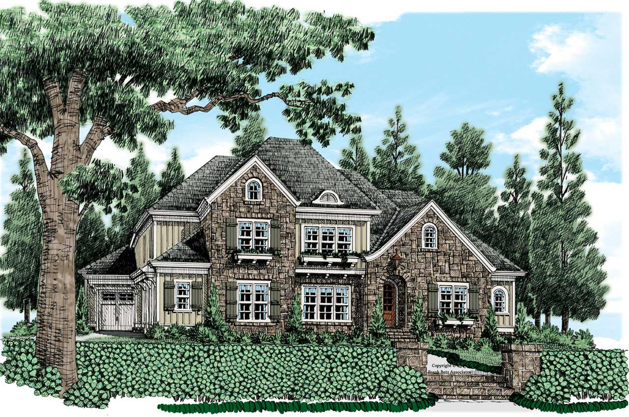 Traditional Style Home Design Plan: 85-244