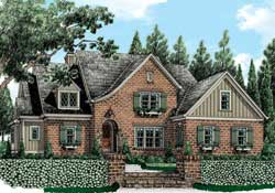 French-Country Style House Plans Plan: 85-247