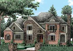 French-Country Style House Plans Plan: 85-253
