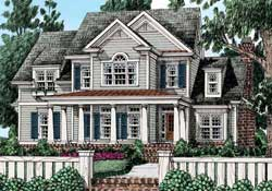 Southern-Colonial Style House Plans Plan: 85-258