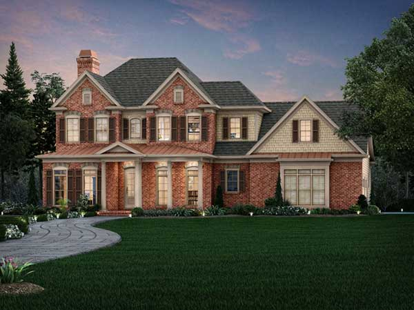 Southern-colonial Style Home Design Plan: 85-264