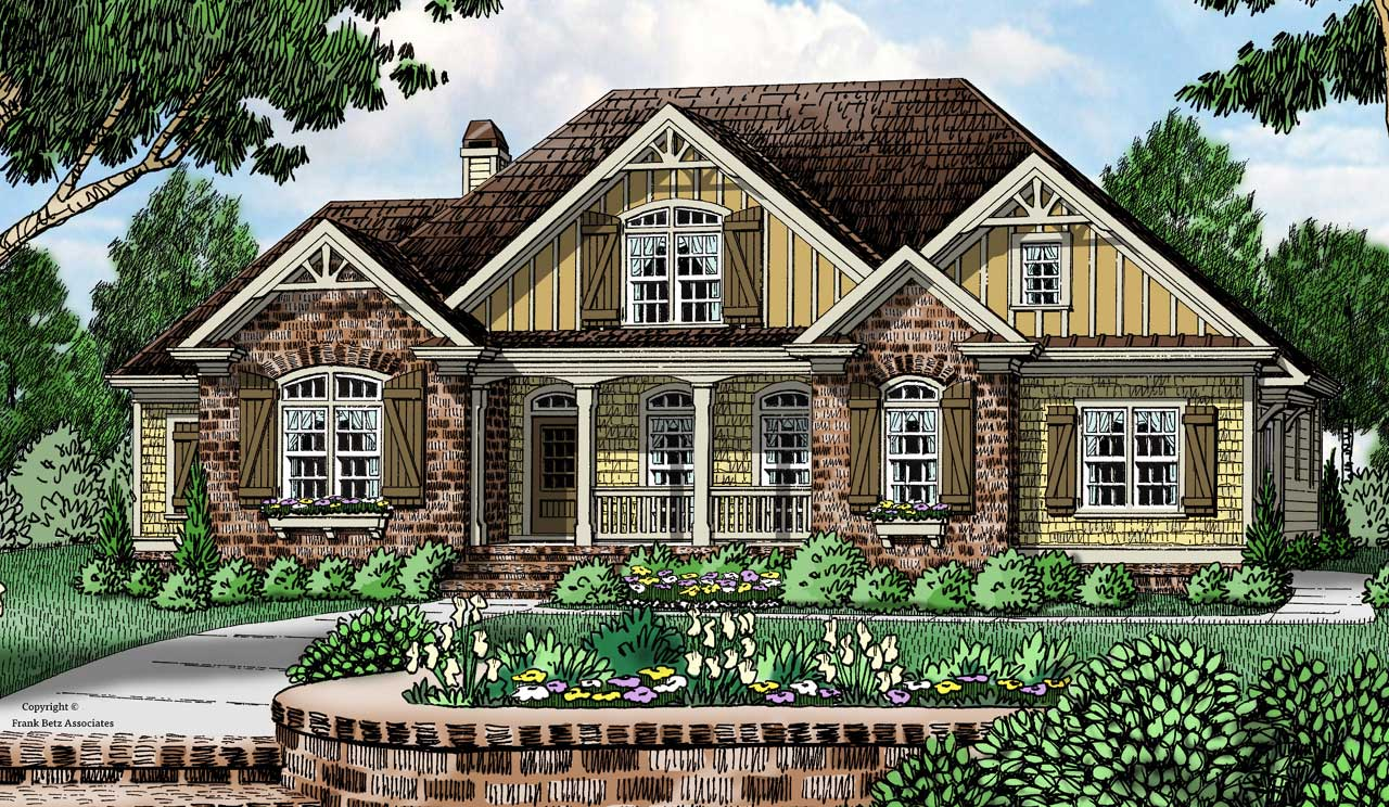Cottage Style Home Design Plan: 85-265