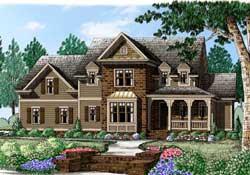 Modern-Farmhouse Style House Plans Plan: 85-266