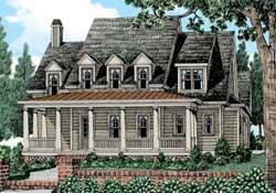 Modern-Farmhouse Style House Plans Plan: 85-283