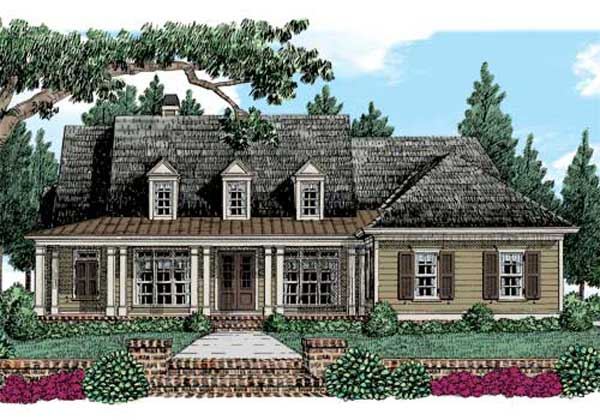 Country Style Home Design Plan: 85-284