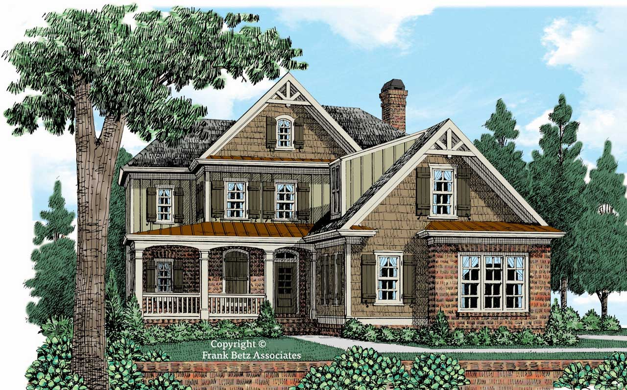 Country Style Home Design Plan: 85-289