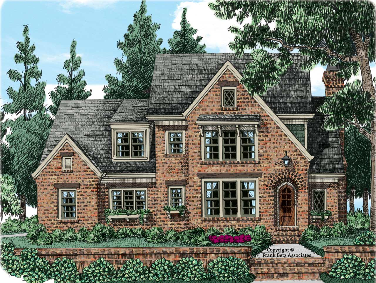 English-country Style Floor Plans Plan: 85-304