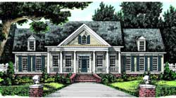 Southern-Colonial Style Floor Plans Plan: 85-320