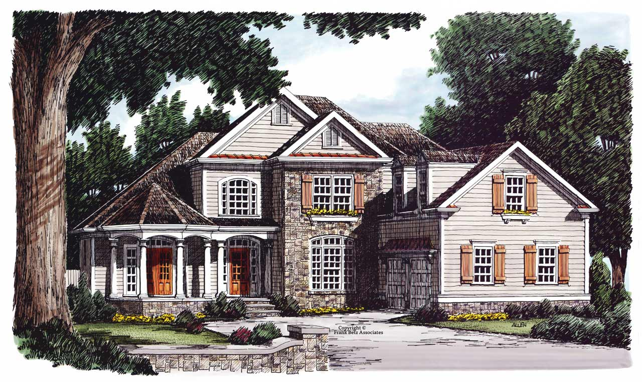 Country Style Floor Plans Plan: 85-323