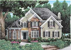 Southern Style Home Design Plan: 85-324