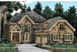 English-Country Style Floor Plans Plan: 85-326