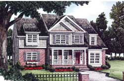 Traditional Style Home Design Plan: 85-329