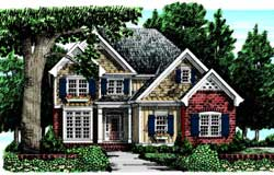 Traditional Style Home Design Plan: 85-330