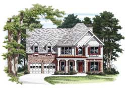 Southern-Colonial Style Floor Plans Plan: 85-331