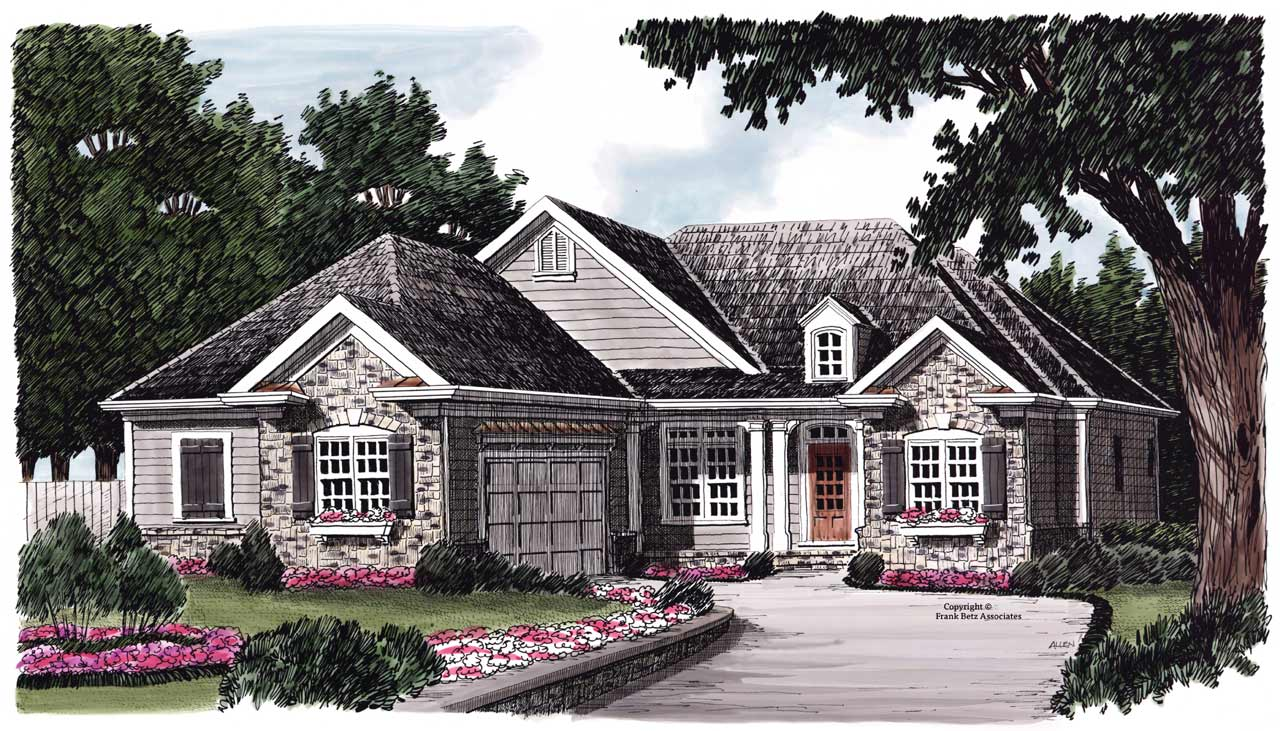 Country Style Floor Plans Plan: 85-332