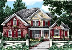 Country Style Home Design Plan: 85-334