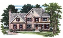 Traditional Style Home Design Plan: 85-339