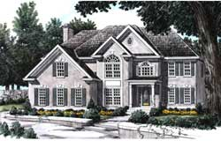 European Style Floor Plans Plan: 85-342