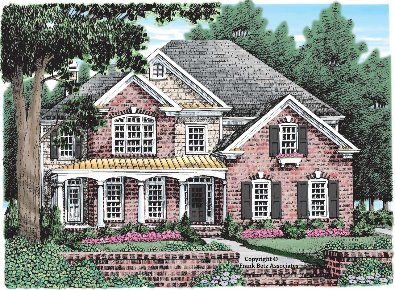 Country Style Home Design Plan: 85-349