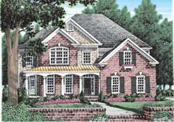 Country Style Floor Plans Plan: 85-349