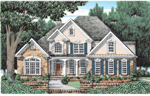Country Style Home Design Plan: 85-354
