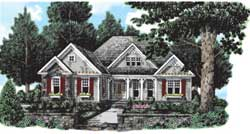 Country Style Home Design Plan: 85-356