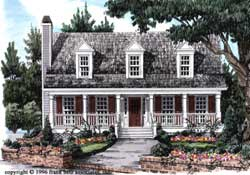 Country Style Floor Plans Plan: 85-361