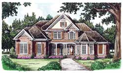 Traditional Style Home Design Plan: 85-363