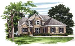 Traditional Style Home Design Plan: 85-364